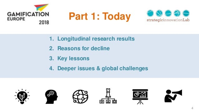 4 Part 1: Today 1. Longitudinal research results 2. Reasons for decline 3. Key lessons 4. Deeper issues & global challenges