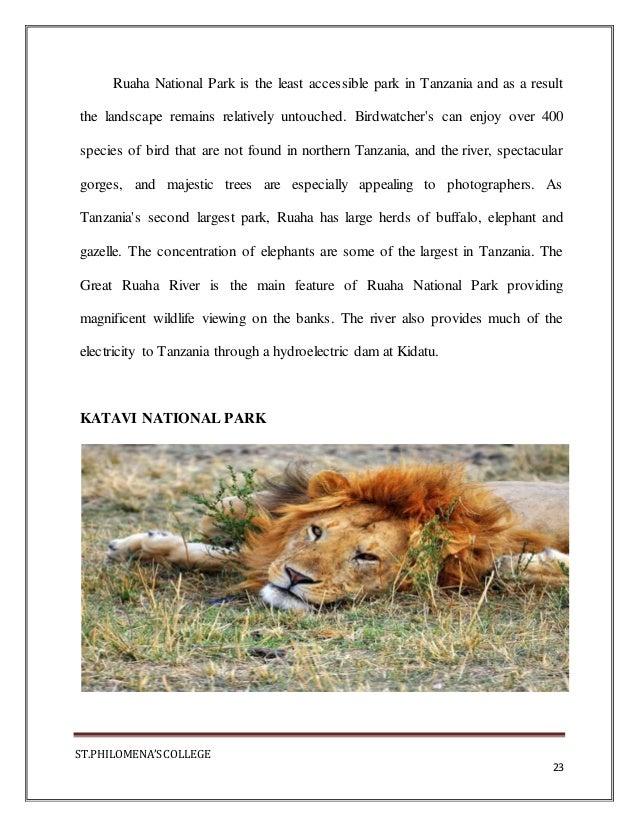 TANZANIA TOURISM #PDF PROJECT