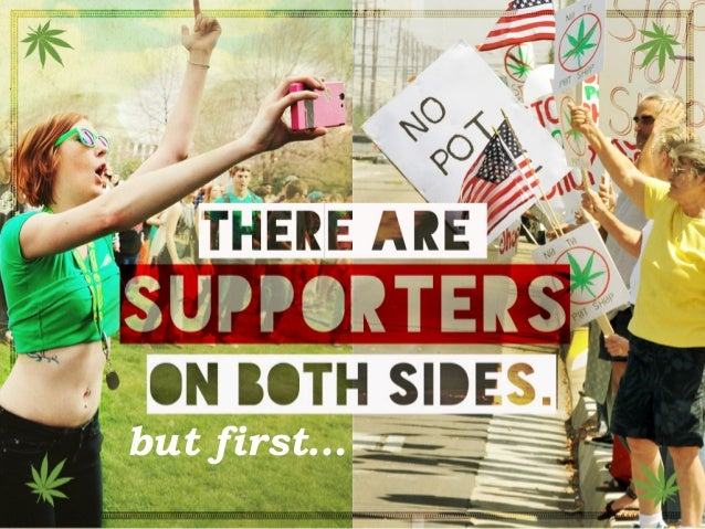 There are supporters on both sides. but first…