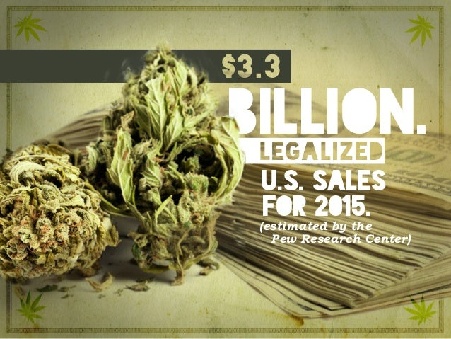 billion.legalized $3.3 u.s. sales (estimated by the Pew Research Center) for 2015.