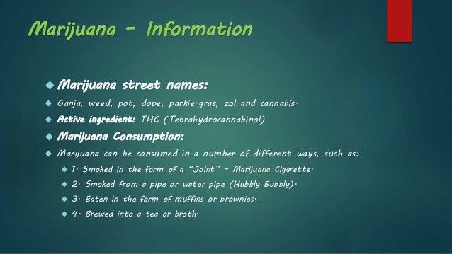 Marijuana Abuse - Information