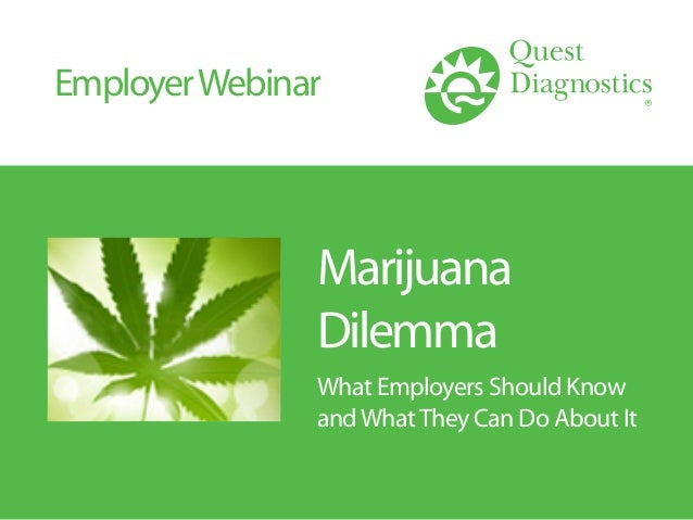 Marijuana Dilemma What Employers Should Know andWhatThey Can Do About It EmployerWebinar