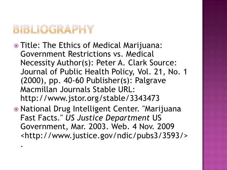 Medical marijuana ethical issues