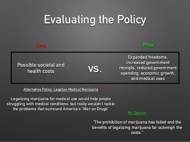 Drug legalization pros and cons essay