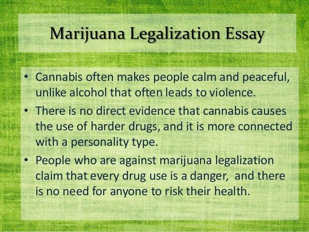 why should marijuana be legalized essay