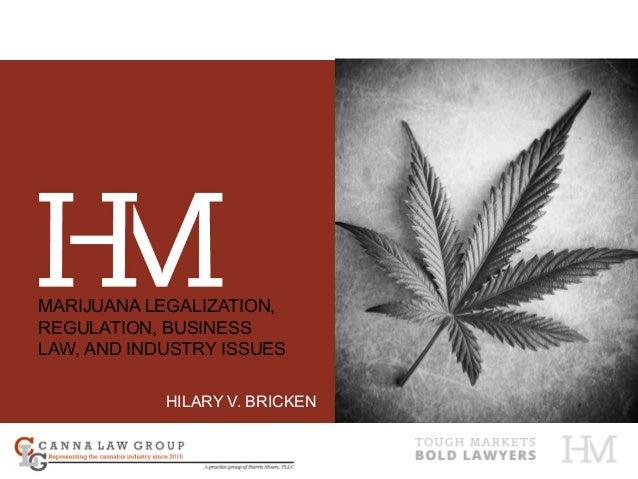 HILARY V. BRICKEN MARIJUANA LEGALIZATION, REGULATION, BUSINESS LAW, AND INDUSTRY ISSUES