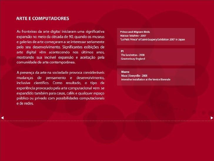 Influências da arte computacional interativa no design de interfaces Slide 2