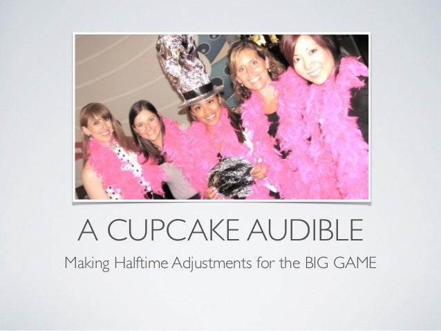 A CUPCAKE AUDIBLE Making Halftime Adjustments for the BIG GAME