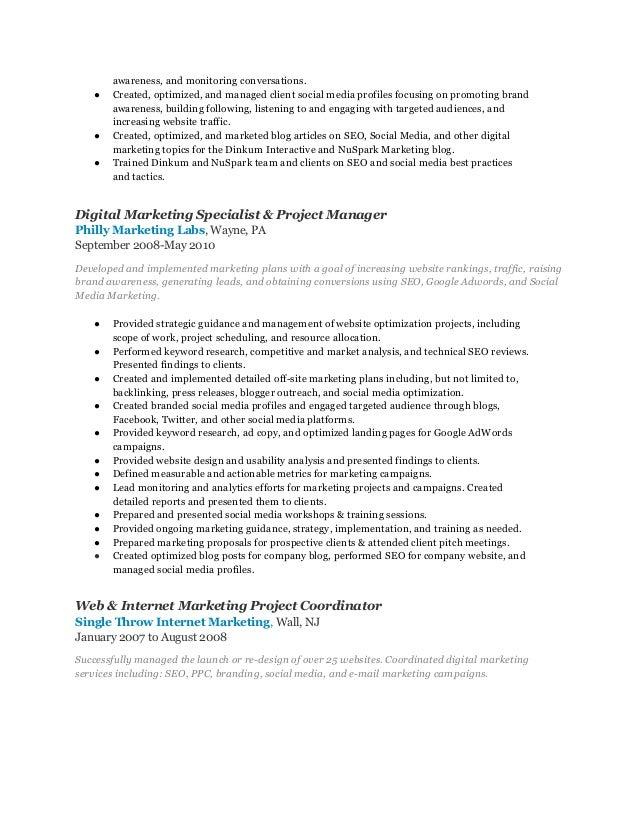 ... 5. ...  Digital Marketing Manager Resume