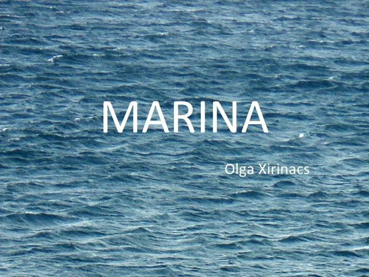 MARINA Olga Xirinacs