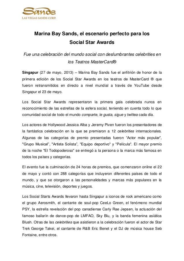 Marina Bay Sands, el escenario perfecto para losSocial Star AwardsFue una celebración del mundo social con deslumbrantes c...