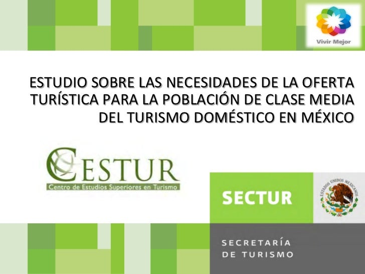SECRETARIA DE TURISMO DEL GOBIERNO DE LA REPUBLICA            ESTUDIO SOBRE LAS NECESIDADES DE ...