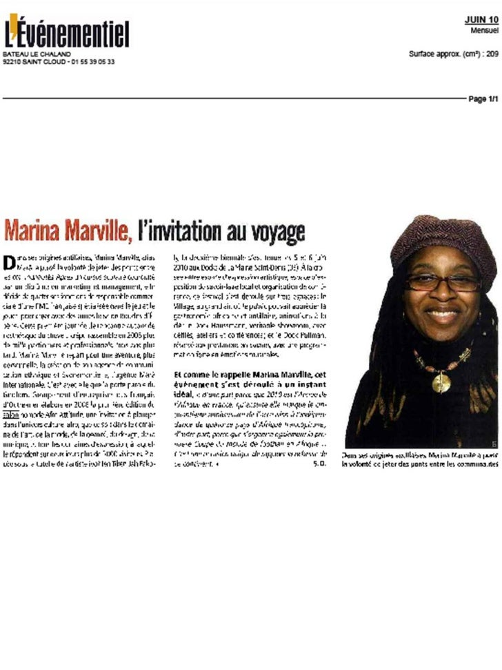 Marina marâ marville revue de presse mars 11