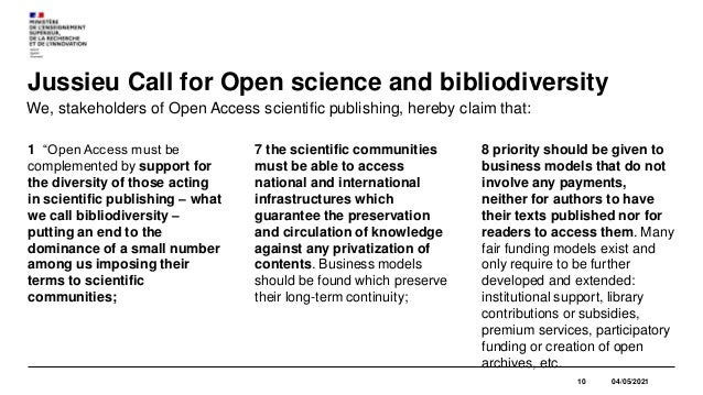 EXAMPLARITY CRITERIA for funding from the National Open Science Fund