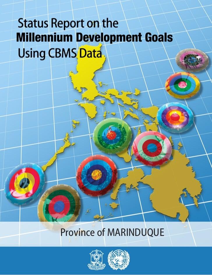 MDGs Provincial Status Report 2010 Philippines Marinduque