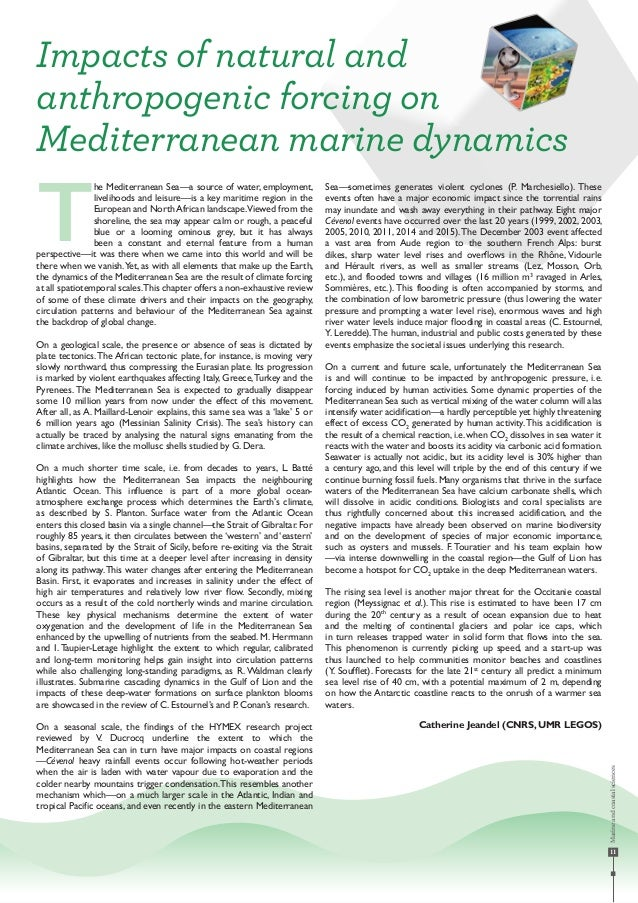 11 he Mediterranean Sea—a source of water, employment, livelihoods and leisure—is a key maritime region in the European an...