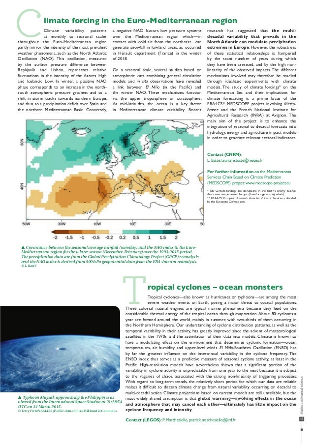 13 Climate forcing in the Euro-Mediterranean region T Climate variability patterns at monthly to seasonal scales throughou...