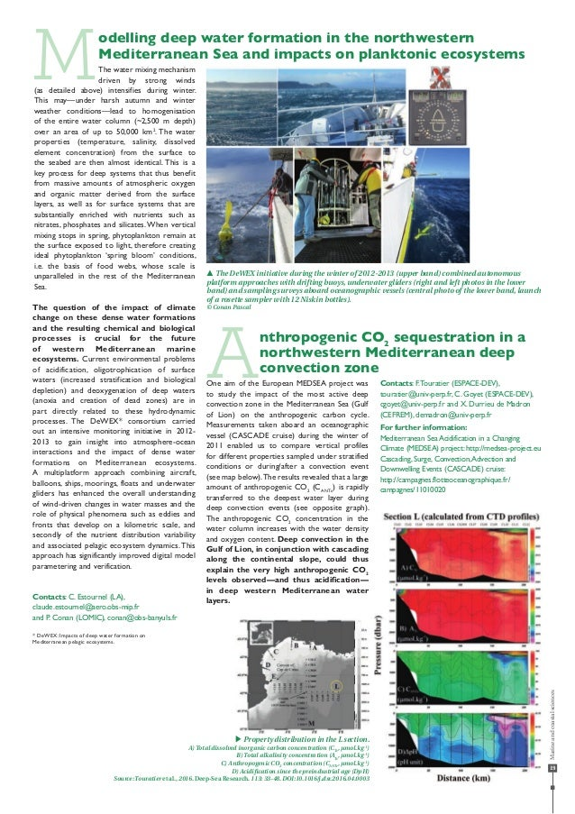 19 Modelling deep water formation in the northwestern Mediterranean Sea and impacts on planktonic ecosystems The water mix...