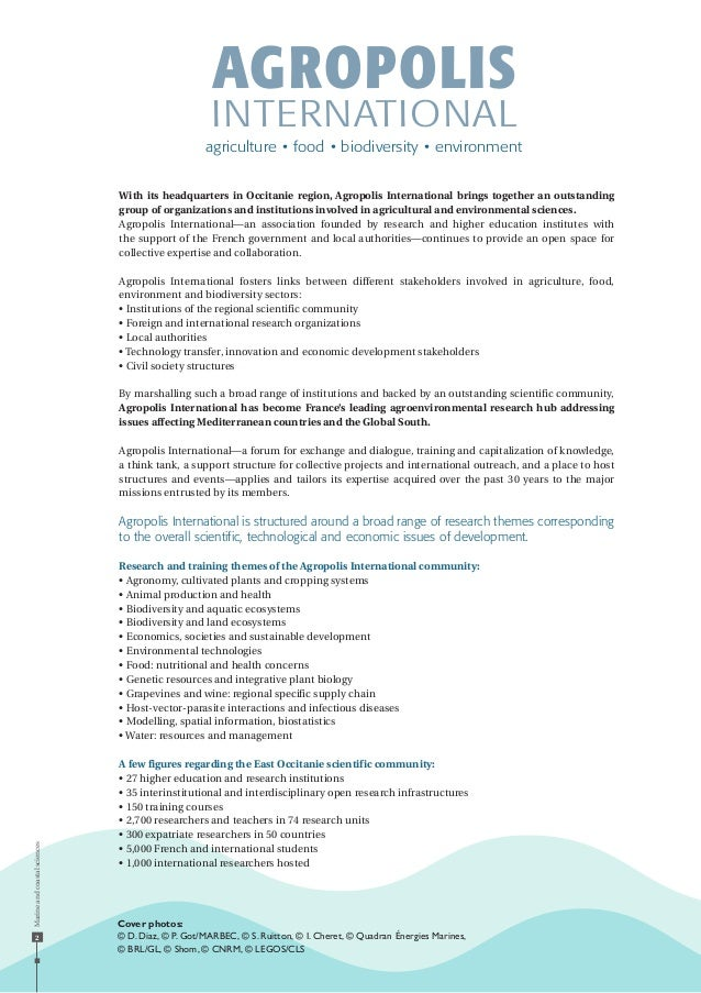 Marineandcoastalsciences 2 With its headquarters in Occitanie region, Agropolis International brings together an outstandi...