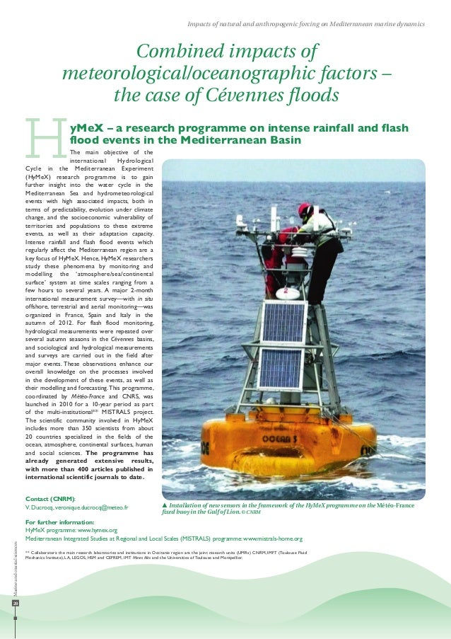 20 Impacts of natural and anthropogenic forcing on Mediterranean marine dynamics Combined impacts of meteorological/oceano...