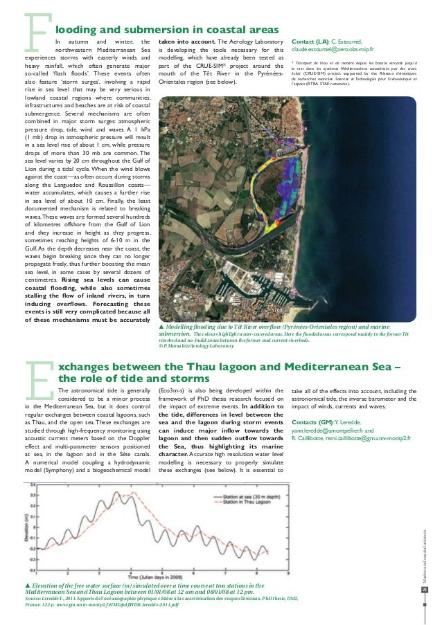 21 Flooding and submersion in coastal areas In autumn and winter, the northwestern Mediterranean Sea experiences storms wi...