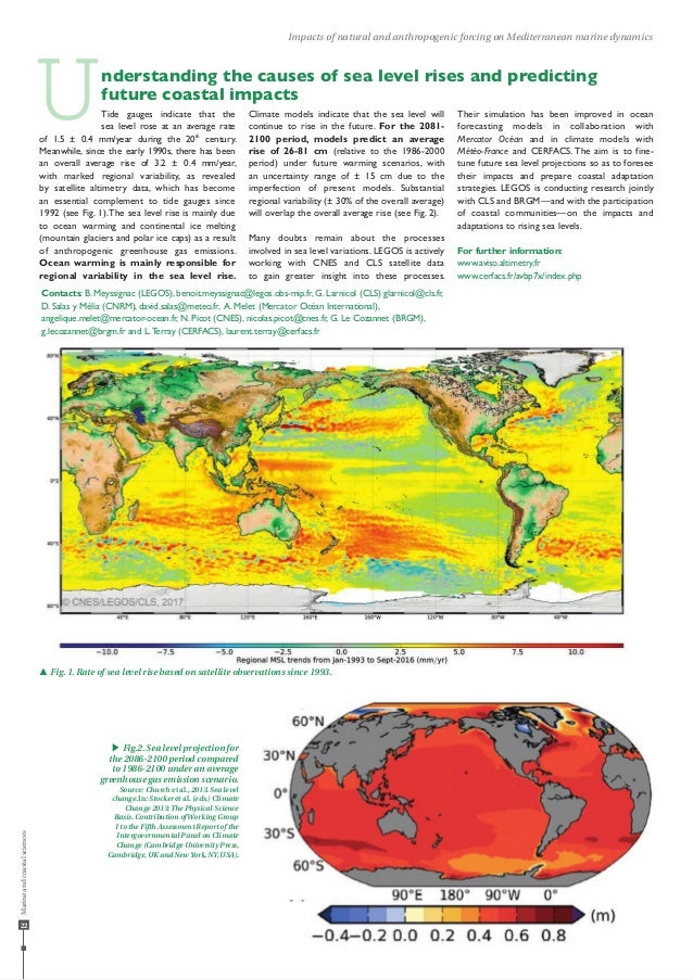 22 Impacts of natural and anthropogenic forcing on Mediterranean marine dynamics Tide gauges indicate that the sea level r...