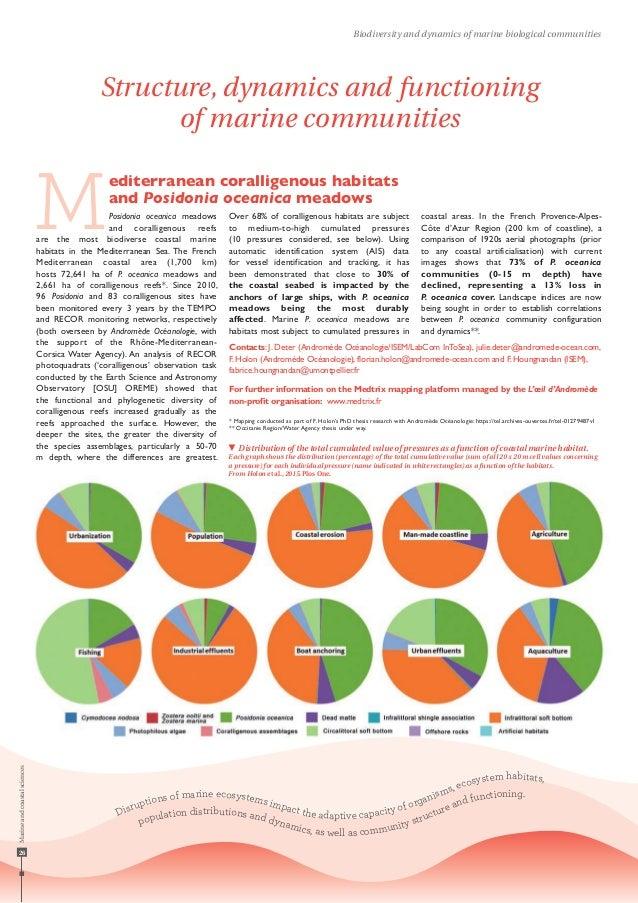 Disruptions of marine ecosystems impact the adaptive capacity of organisms, ecosystem habitats, population distributions a...