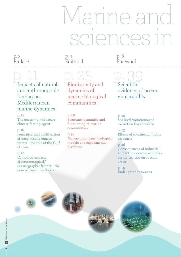 Marineandcoastalsciences 4 Marineand sciencesin p. 11 p. 25 p. 39Impacts of natural and anthropogenic forcing on Mediterra...