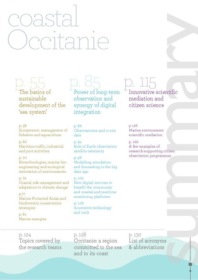 Marineandcoastalsciences 5 coastal Occitanie p. 55 p. 85 p. 115The basics of sustainable development of the 'sea system' p...