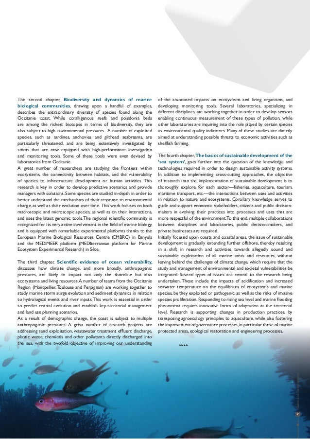 7 The second chapter, Biodiversity and dynamics of marine biological communities, drawing upon a handful of examples, desc...