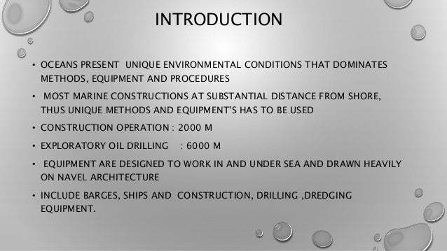 Marine and offshore construction equipments Slide 2