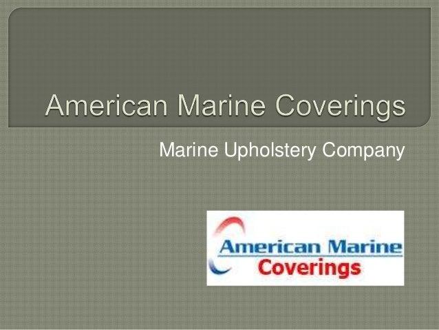 Marine Upholstery Company