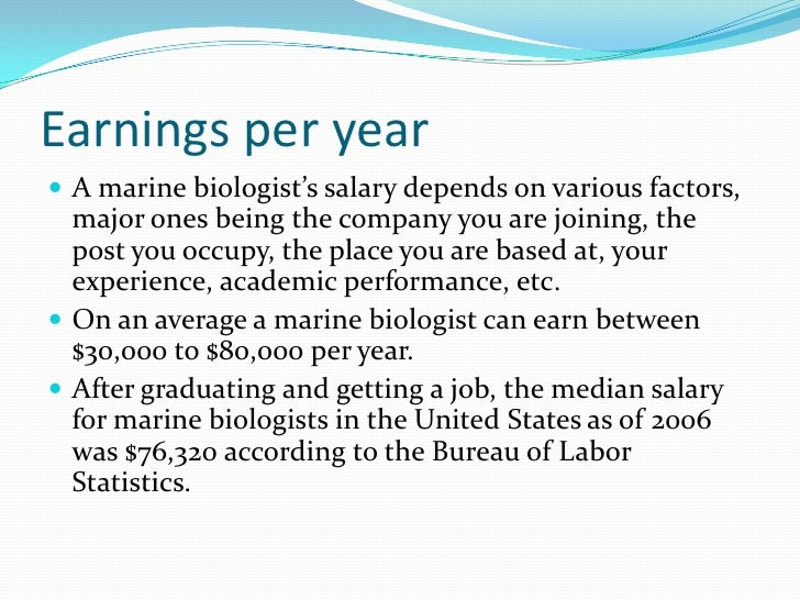 br 6 earnings per yearbr a marine biologists salary marine biologist job description and salary