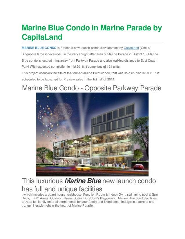 Marine Blue Condo in Marine Parade by CapitaLand MARINE BLUE CONDO is Freehold new launch condo development by Capitaland ...