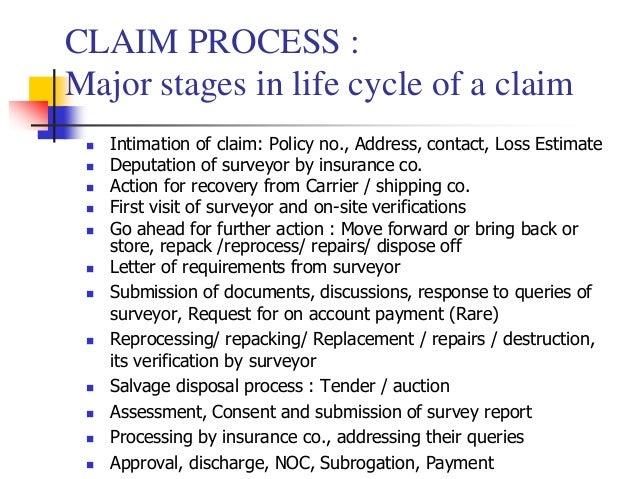 Marine Cargo insurance claims