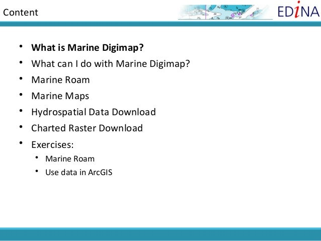 Content    What is Marine Digimap?    What can I do with Marine Digimap?    Marine Roam    Marine Maps    Hydrospatia...