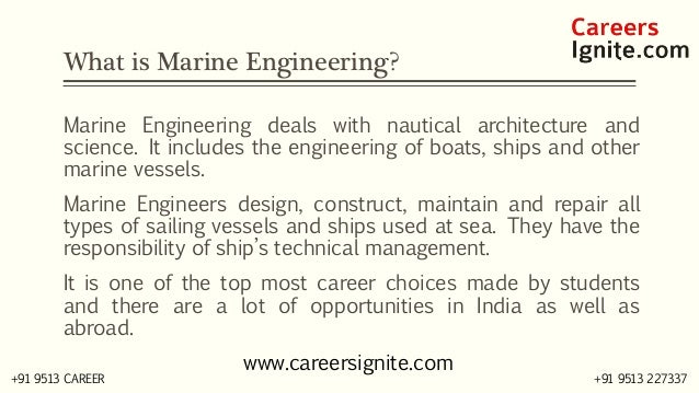 Marine Engineering Courses, Colleges, Eligibility Slide 2