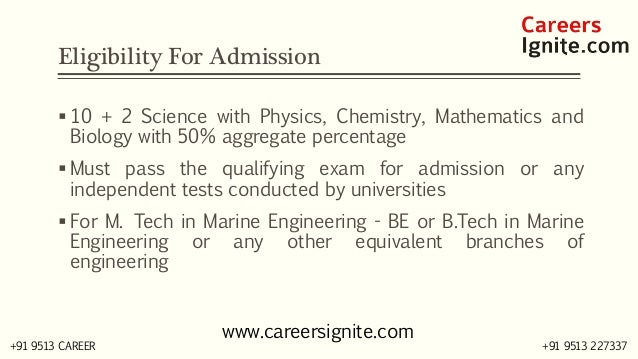 Marine Engineering Courses, Colleges, Eligibility Slide 3
