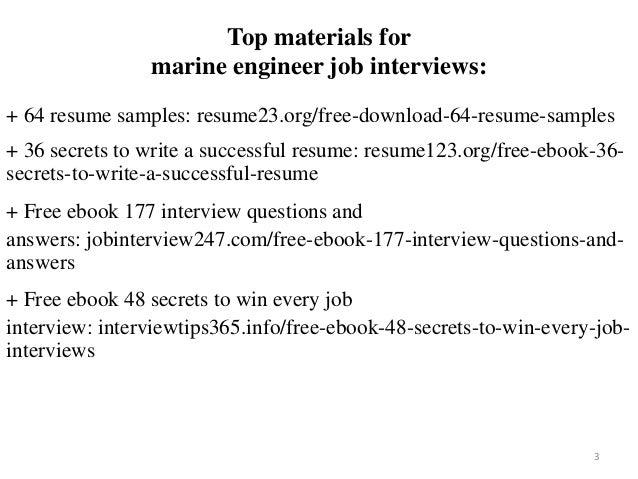 Marine Engineer Resume Sample Pdf Ebook Free Download
