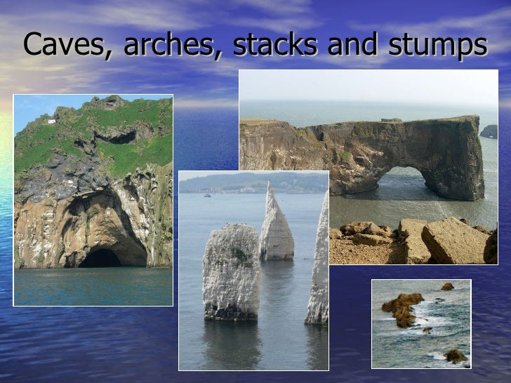 The formation of caves arches stacks and stumps the best for Ocean definition geography