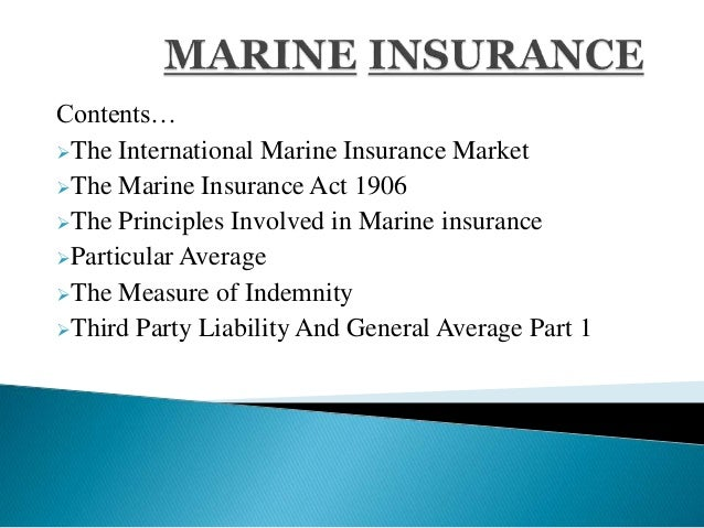 marine insurance Ocean marine insurance can be tailored to meet the unique needs of your marine business explore ocean marine insurance from travelers.