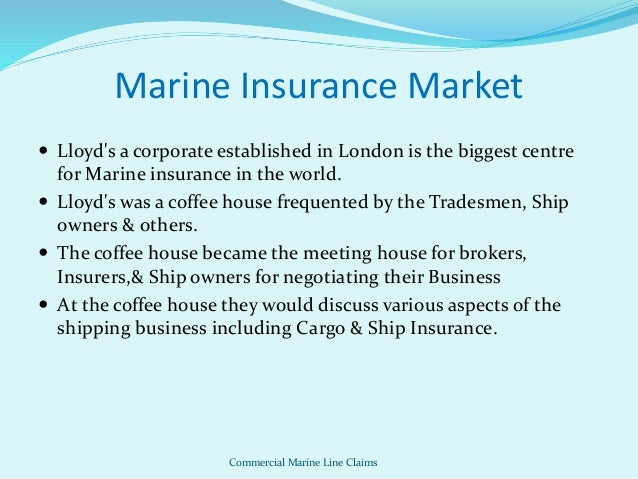 marine cargo insurance With knowledge and experience gained over the last century, chubb's robust marine insurance solutions keep pace with your ever-evolving needs.