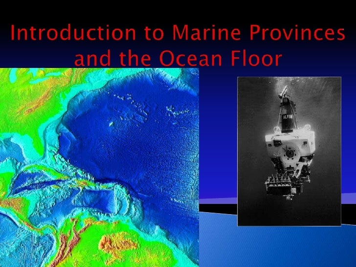 Introduction to Marine Provinces and the Ocean Floor<br />