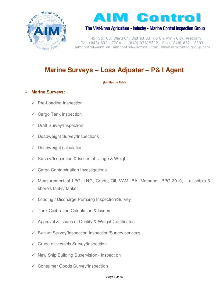 The Viet-Nhan Agriculture - Industry - Marine Control Inspection Group                              45, Str. 03, Ward 04, ...