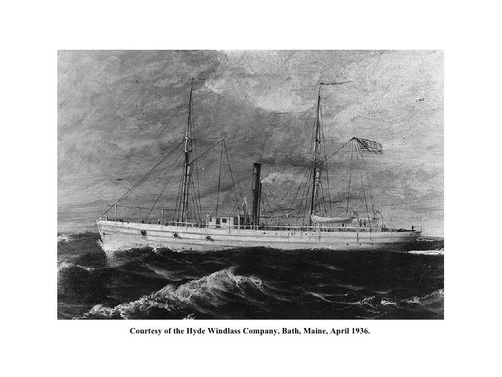 USS  Cherokee  (1864-1865) Courtesy of the Hyde Windlass Company, Bath, Maine, April 1936.