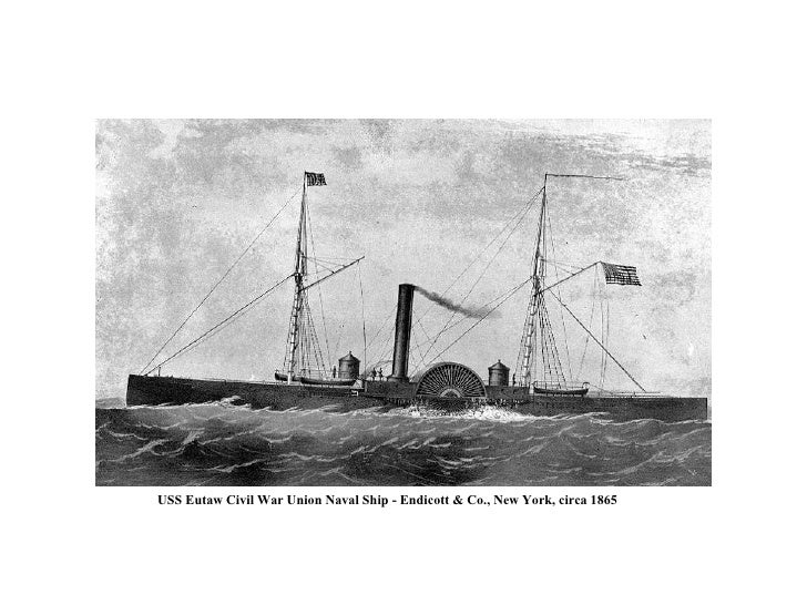 USS Eutaw Civil War Union Naval Ship - Endicott & Co., New York, circa 1865