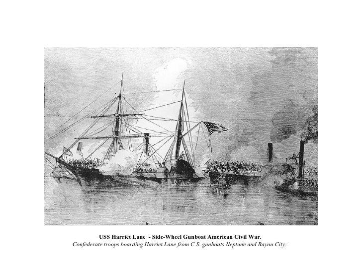USS Harriet Lane  - Side-Wheel Gunboat American Civil War.  Confederate troops boarding Harriet Lane from C.S. gunboats Ne...