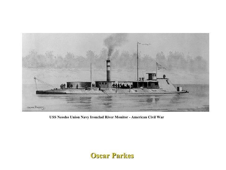 USS Neosho Union Navy Ironclad River Monitor - American Civil War Oscar Parkes