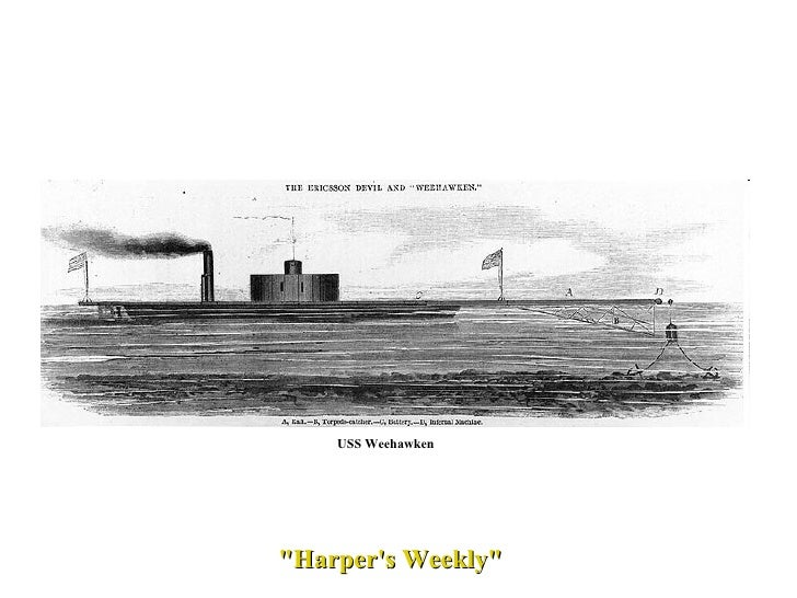 """Harper's Weekly""  USS Weehawken"