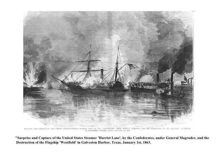 """""""Surprise and Capture of the United States Steamer 'Harriet Lane', by the Confederates, under General Magruder, and t..."""
